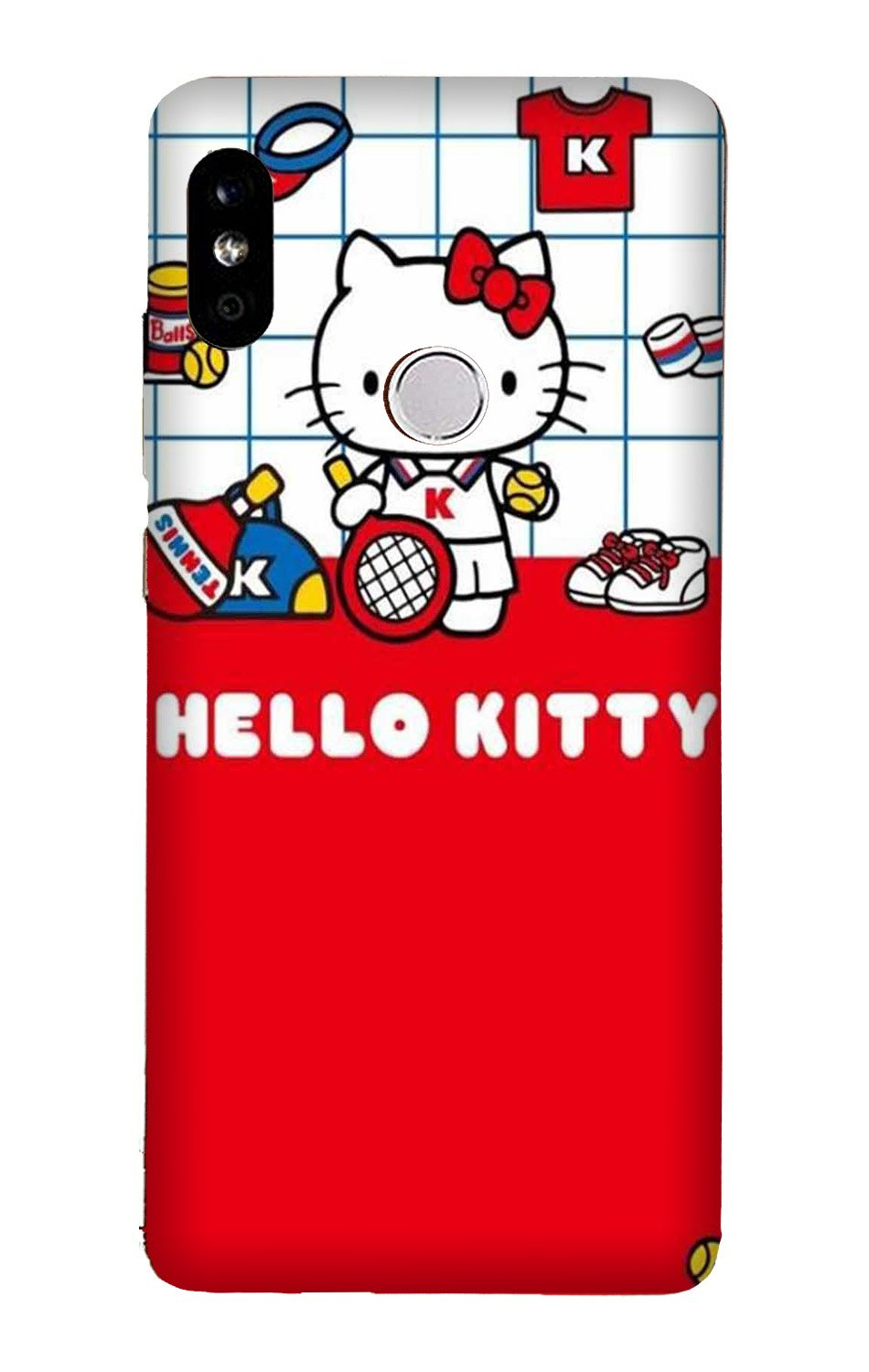 Hello Kitty Mobile Back Case for Mi A2  (Design - 363)