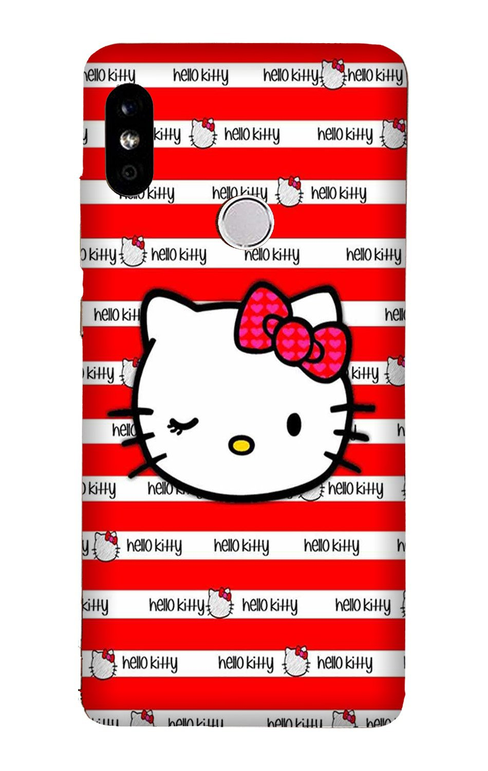 Hello Kitty Mobile Back Case for Mi A2  (Design - 364)