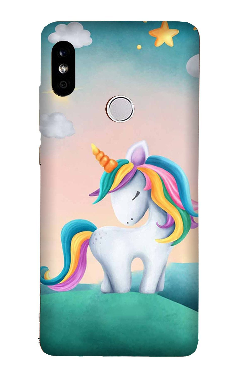 Unicorn Mobile Back Case for Mi A2  (Design - 366)