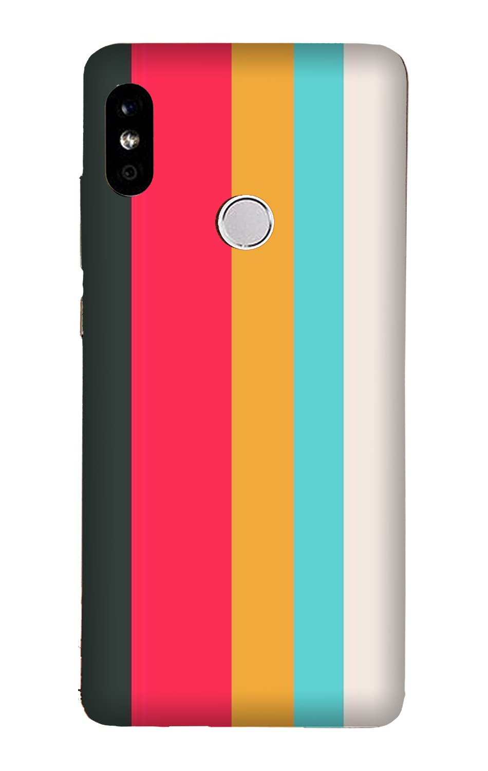Color Pattern Mobile Back Case for Mi A2  (Design - 369)