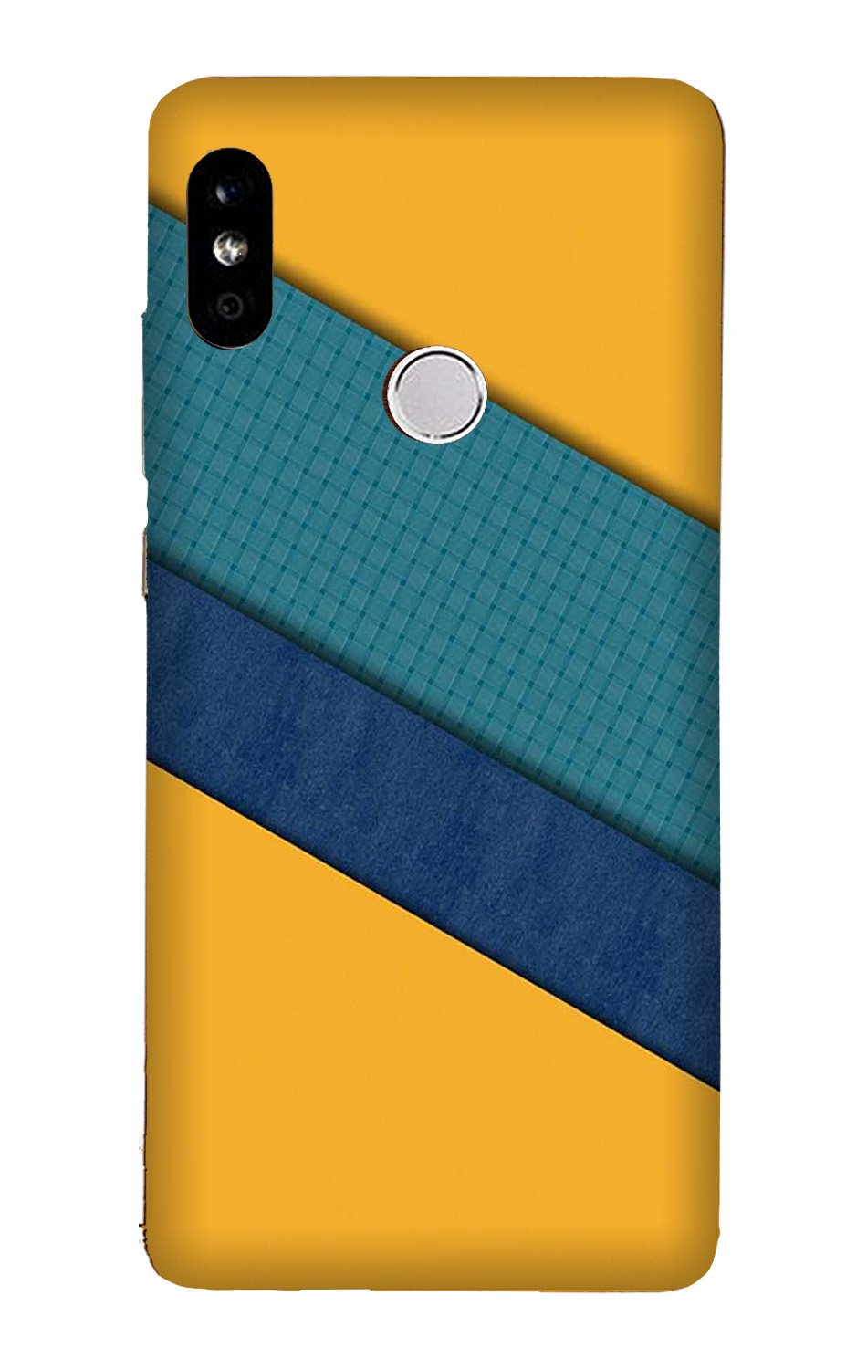 Diagonal Pattern Mobile Back Case for Mi A2  (Design - 370)