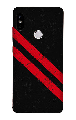 Black Red Pattern Mobile Back Case for Redmi 6 Pro  (Design - 373)
