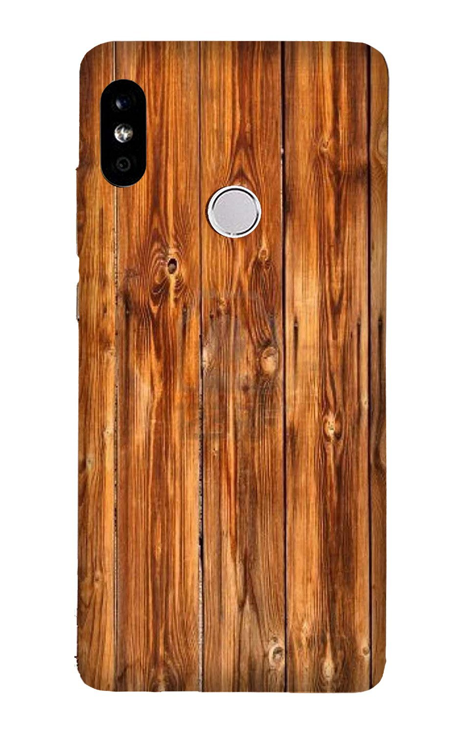 Wooden Texture Mobile Back Case for Mi A2  (Design - 376)