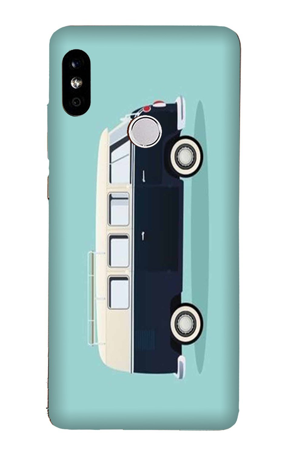 Travel Bus Mobile Back Case for Mi A2  (Design - 379)