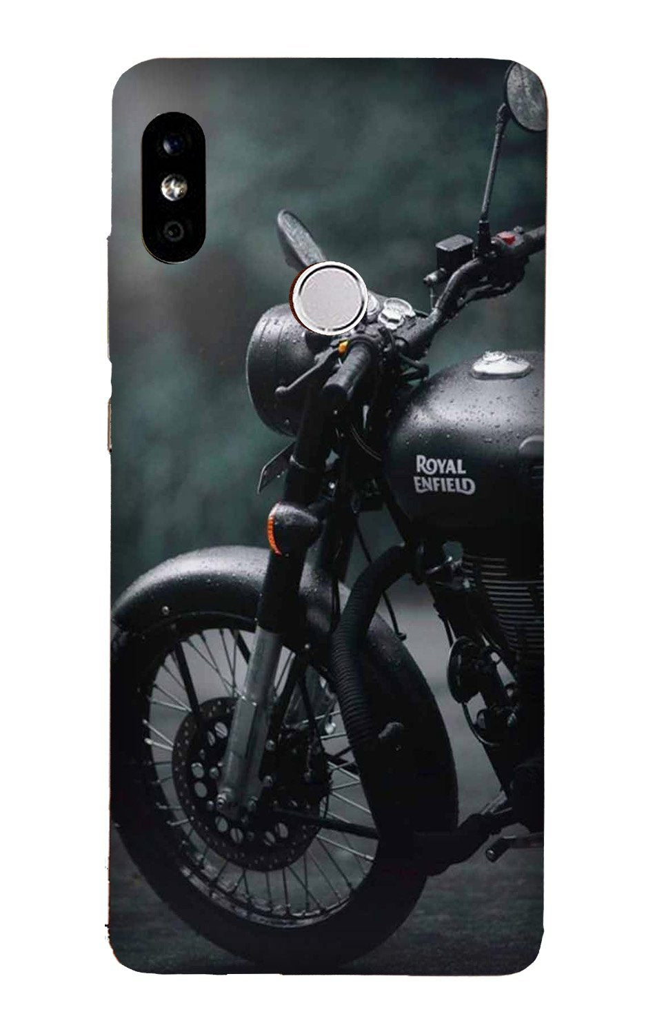 Royal Enfield Mobile Back Case for Mi A2  (Design - 380)
