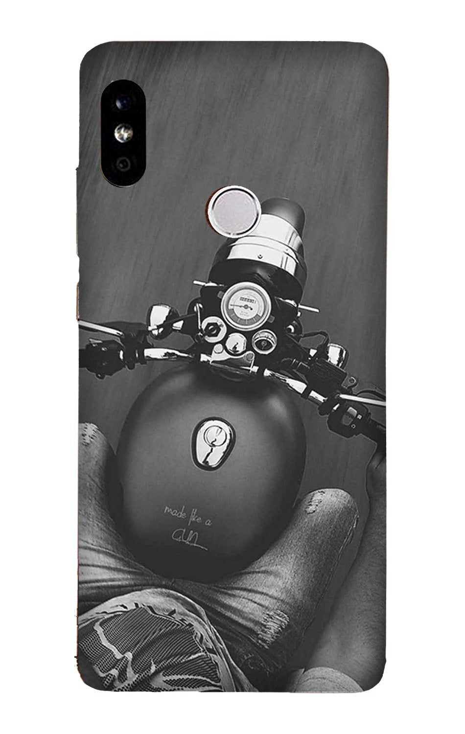 Royal Enfield Mobile Back Case for Mi A2  (Design - 382)