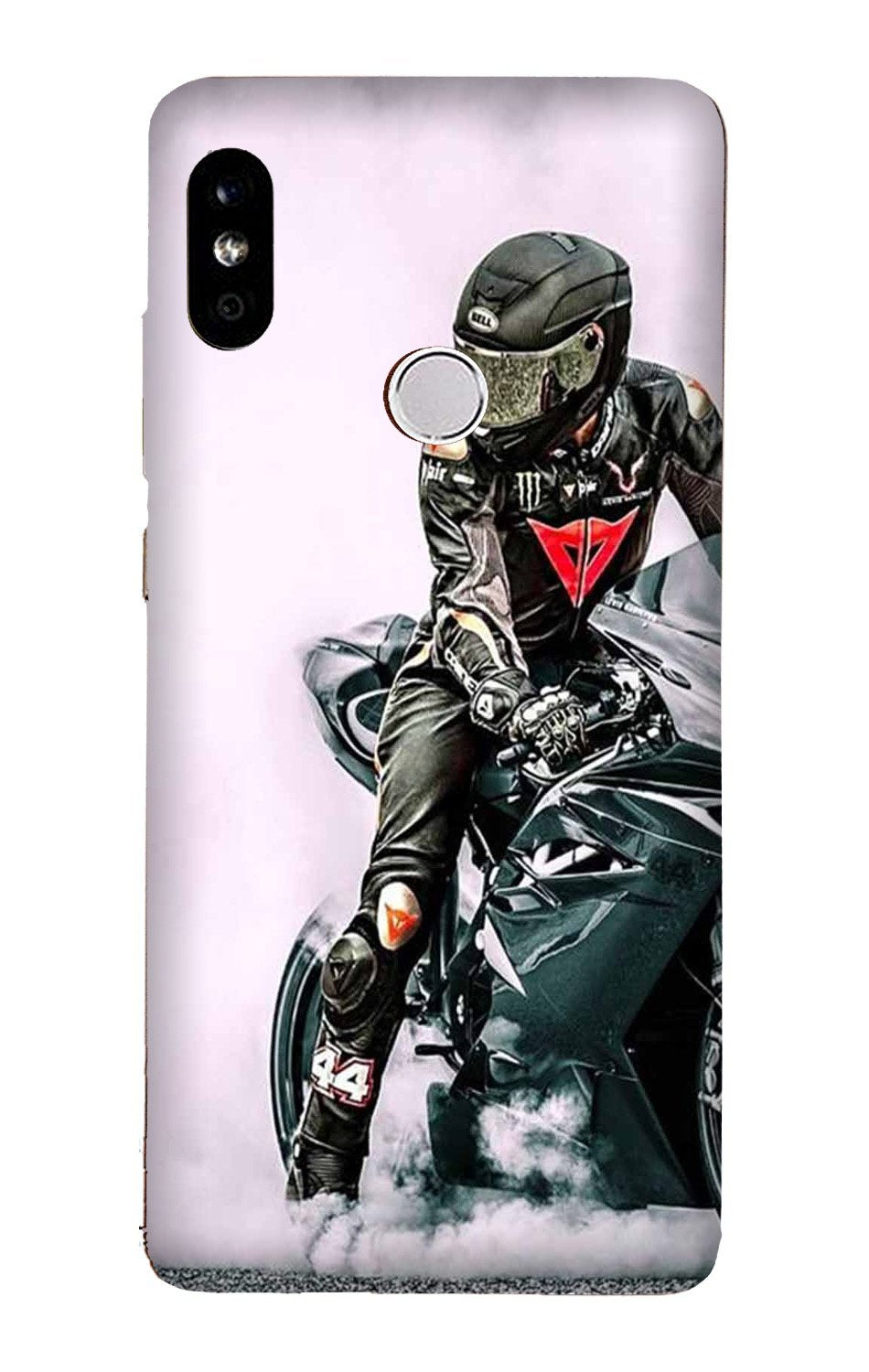 Biker Mobile Back Case for Mi A2  (Design - 383)