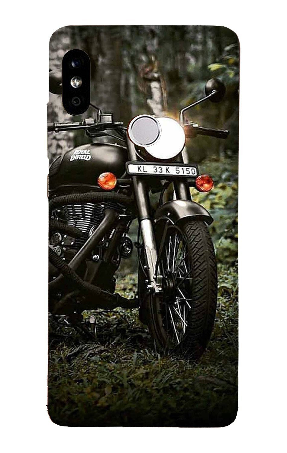 Royal Enfield Mobile Back Case for Mi A2  (Design - 384)