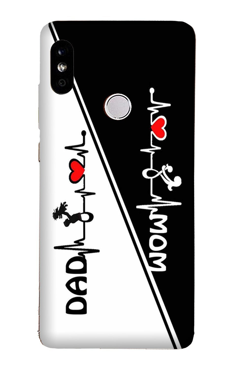 Love Mom Dad Mobile Back Case for Mi A2  (Design - 385)