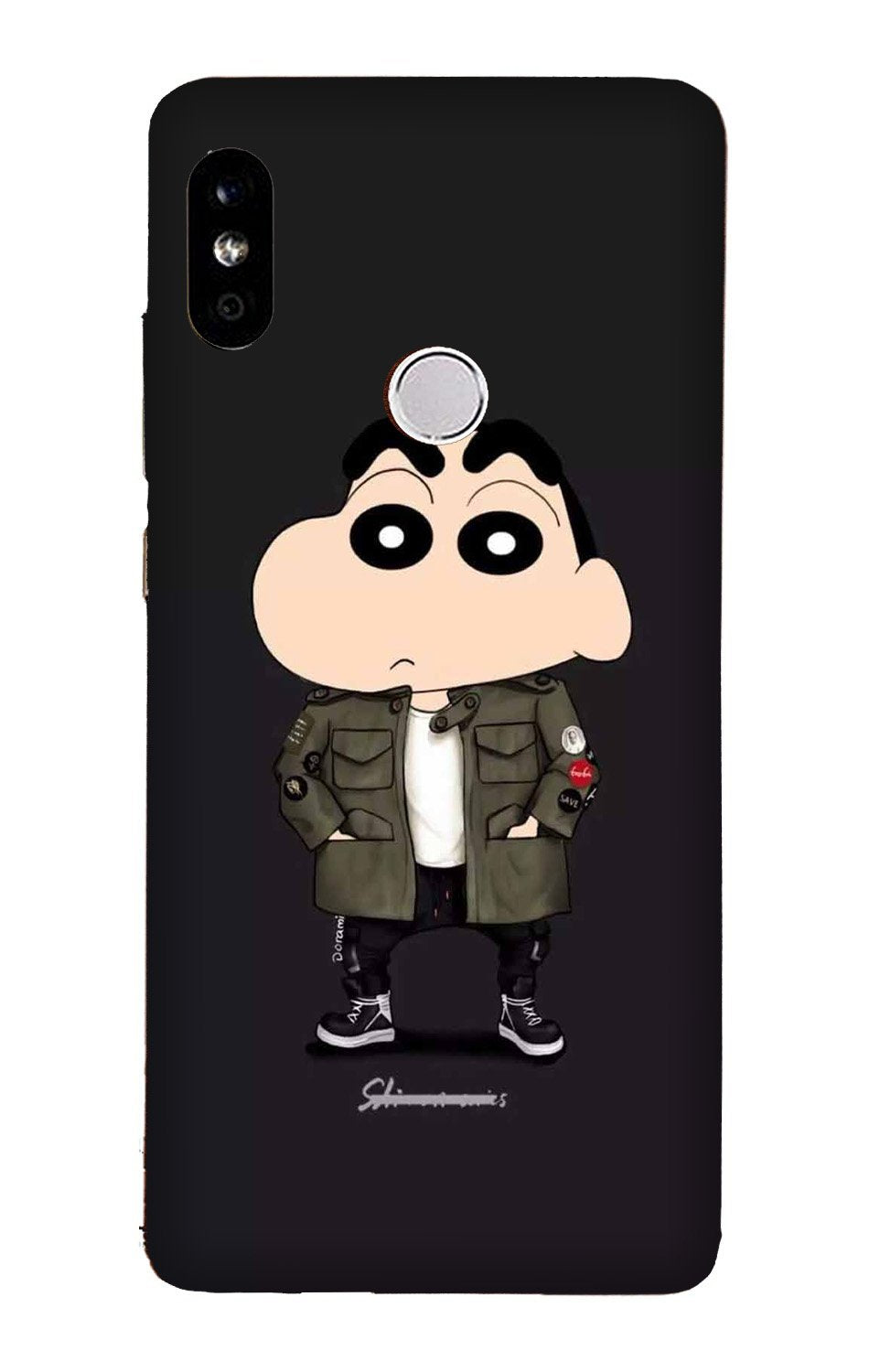Shin Chan Mobile Back Case for Mi A2  (Design - 391)