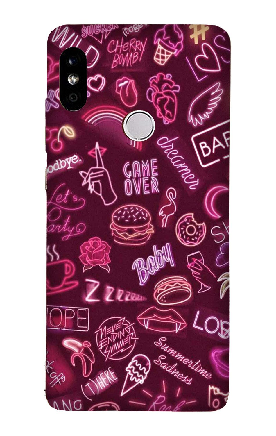 Party Theme Mobile Back Case for Mi A2  (Design - 392)
