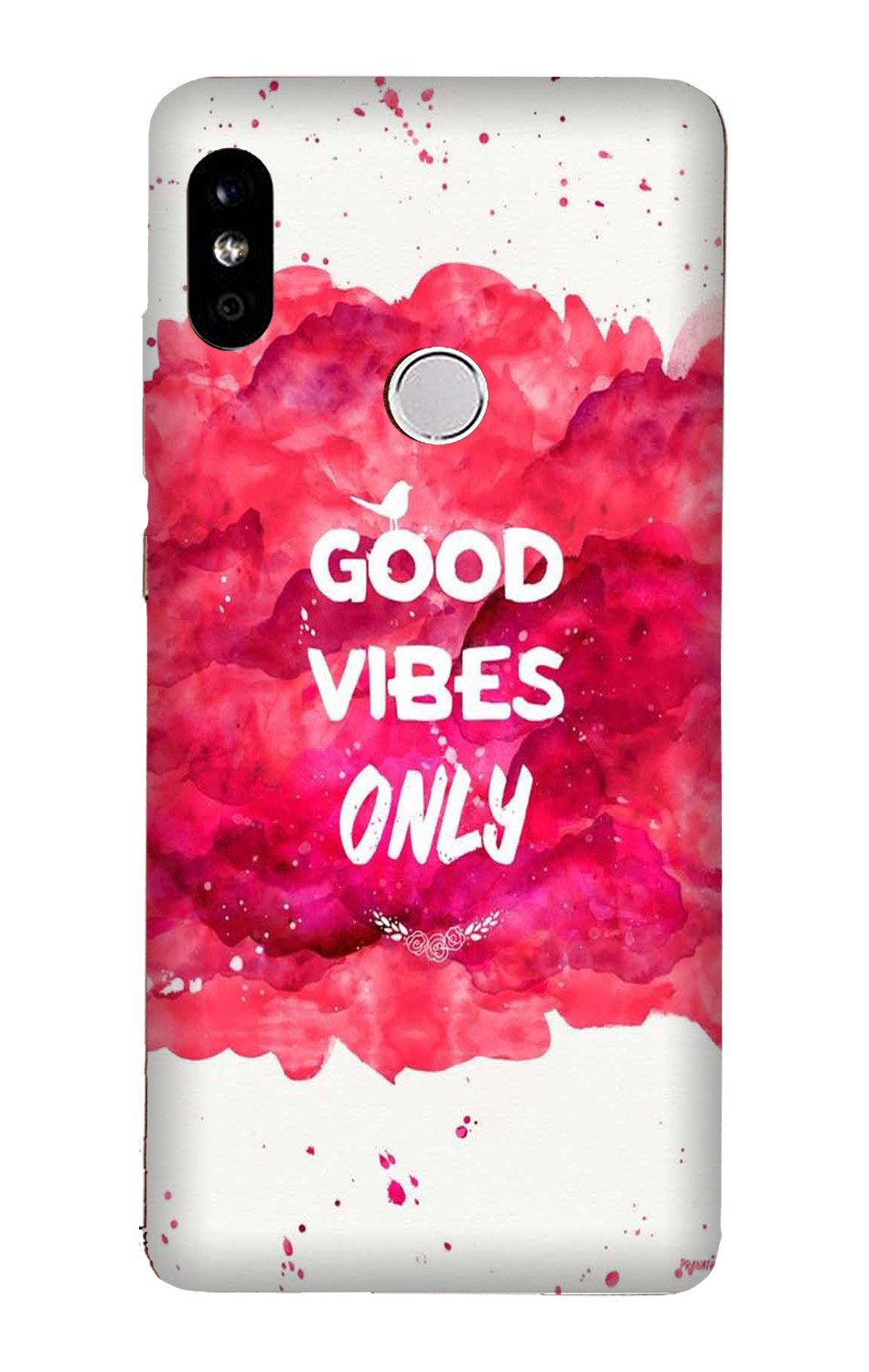 Good Vibes Only Mobile Back Case for Mi A2  (Design - 393)