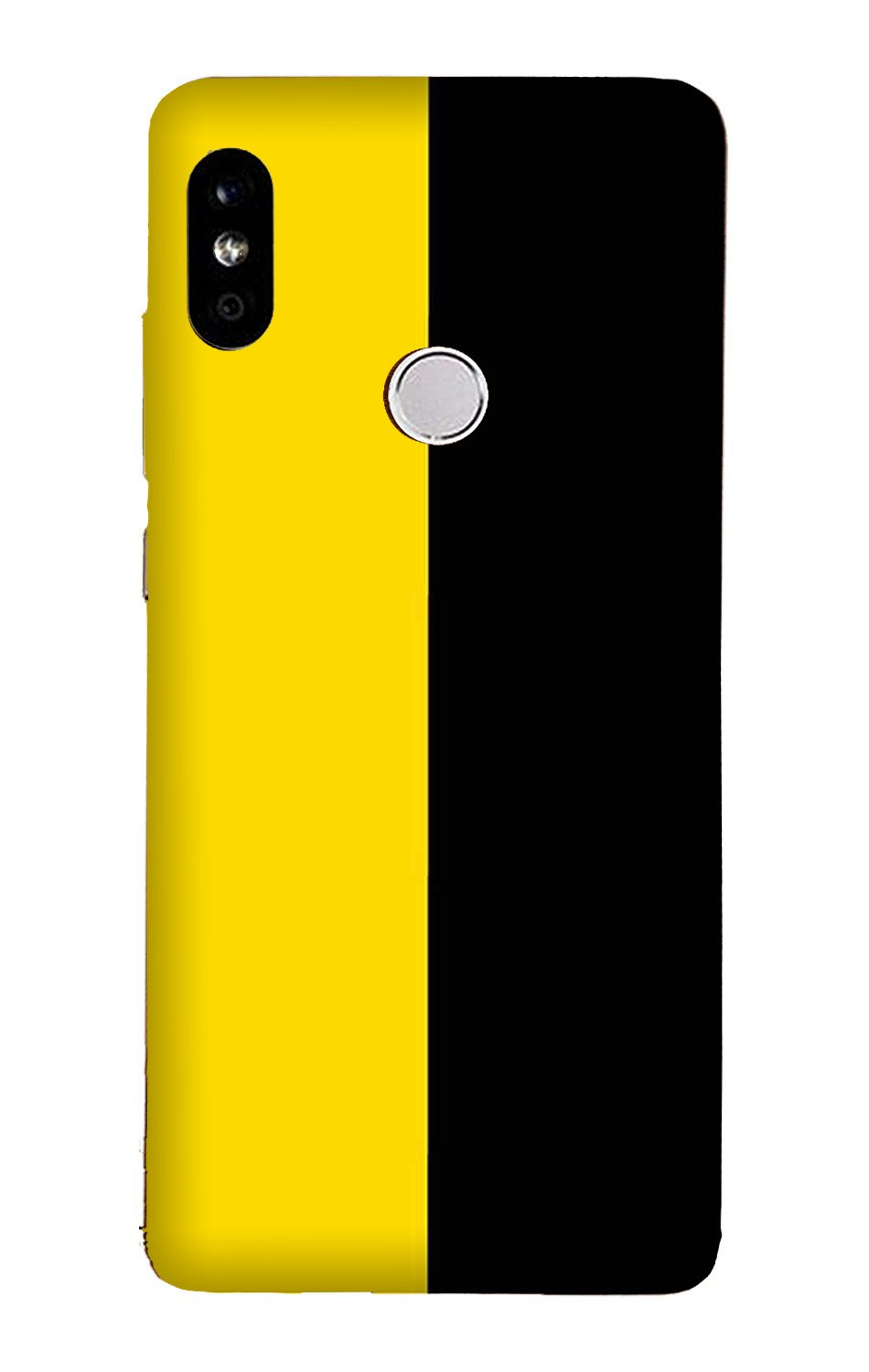 Black Yellow Pattern Mobile Back Case for Mi A2  (Design - 397)