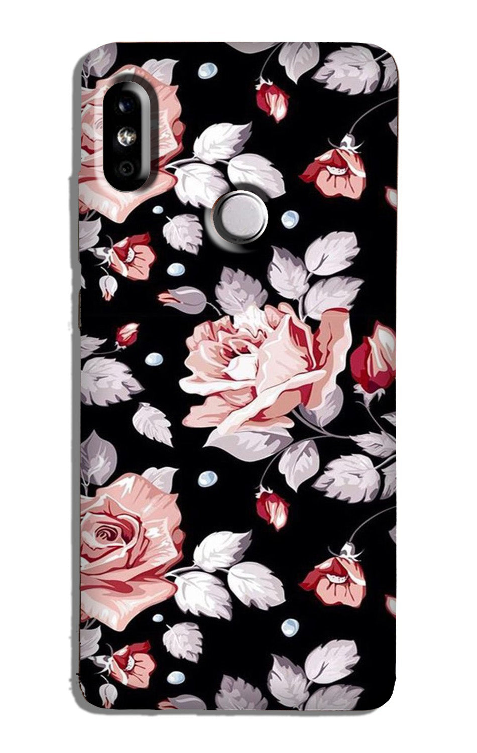 Pink rose Case for Redmi 6 Pro