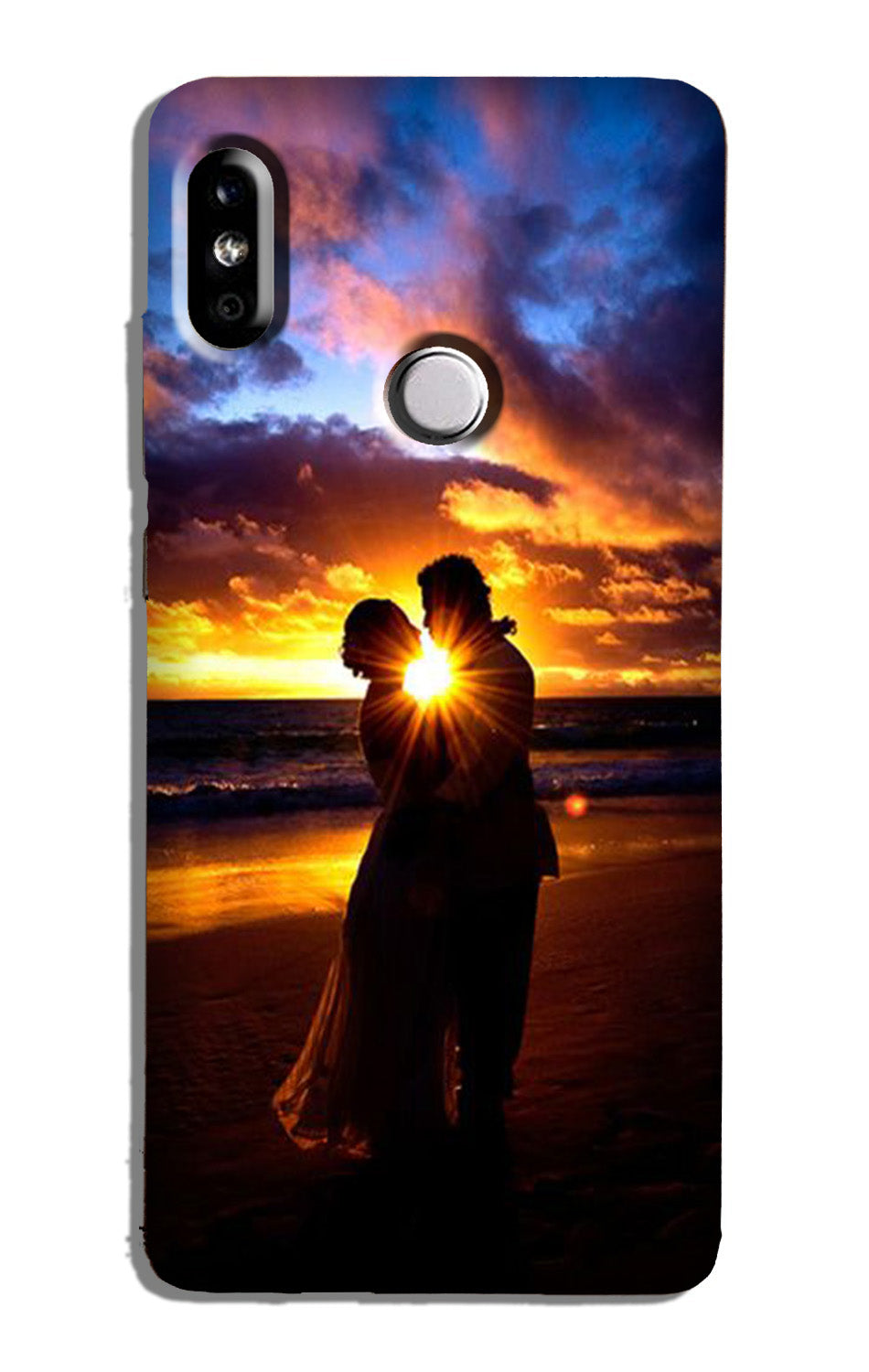 Couple Sea shore Case for Redmi 6 Pro