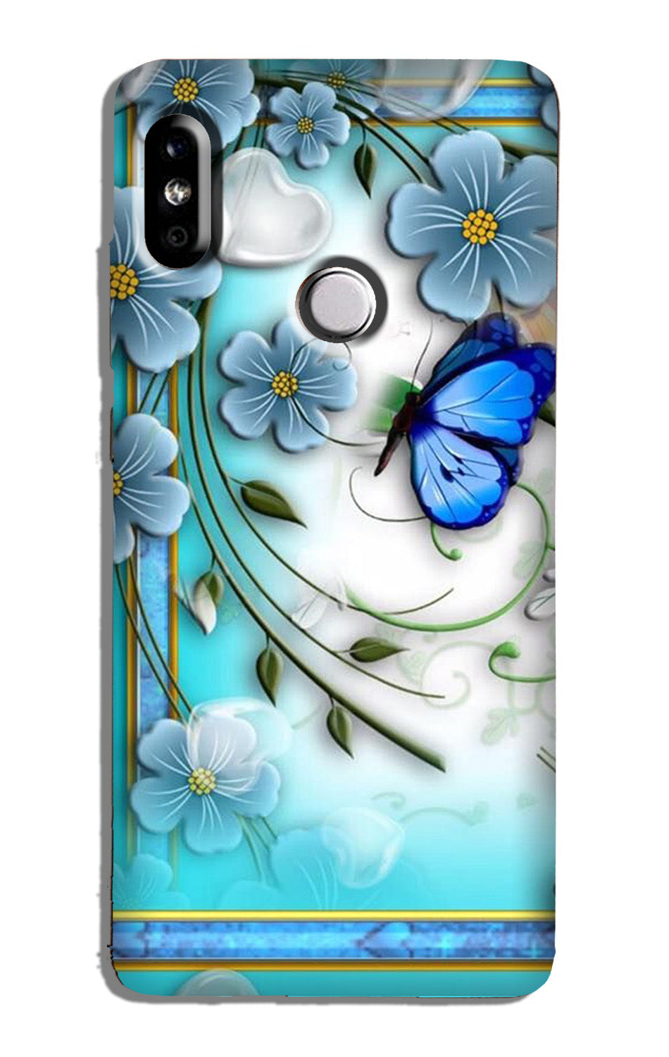Blue Butterfly Case for Redmi Note 6 Pro