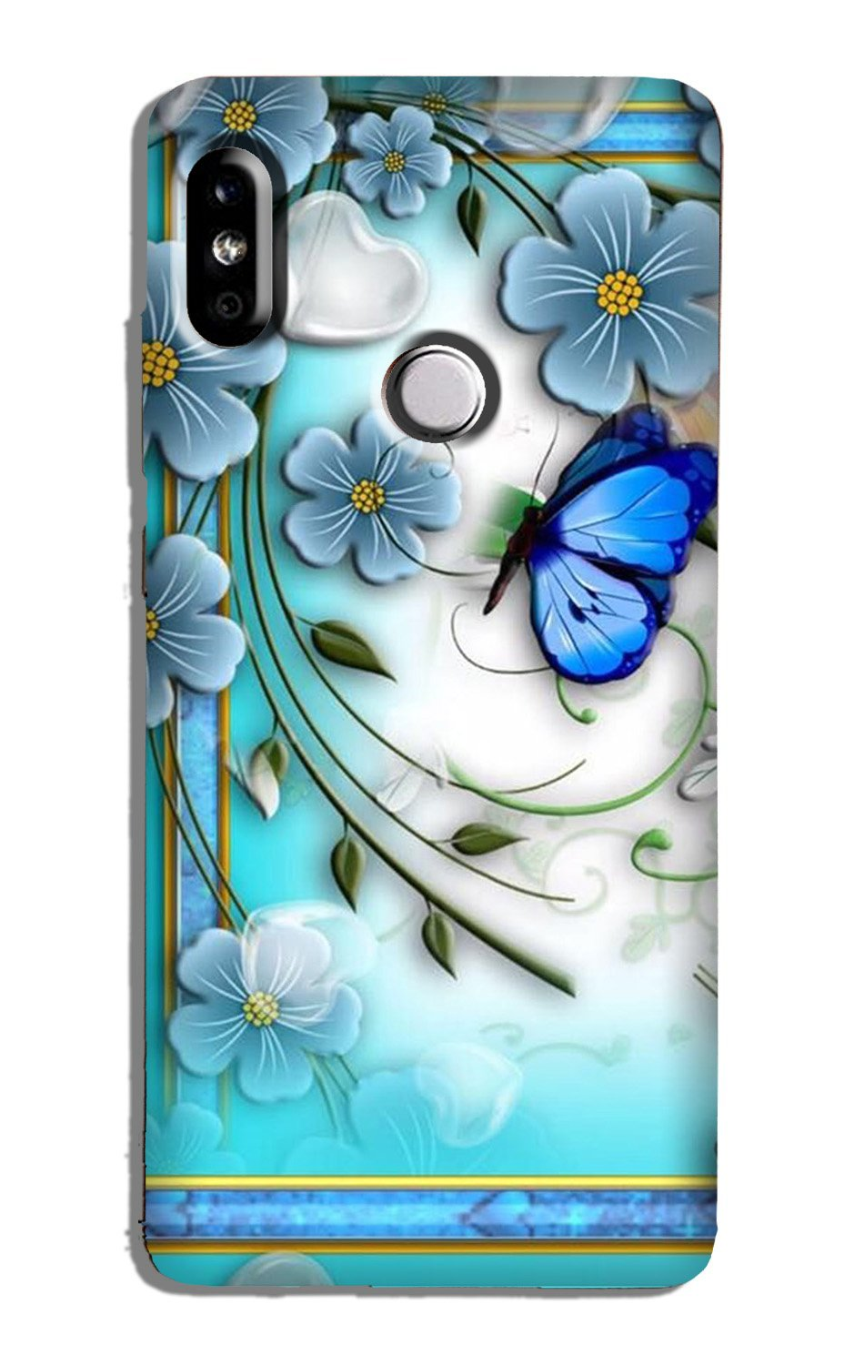 Blue Butterfly  Case for Redmi Note 5 Pro