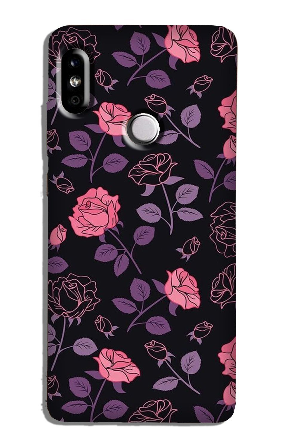 Rose Black Background Case for Redmi Note 5 Pro