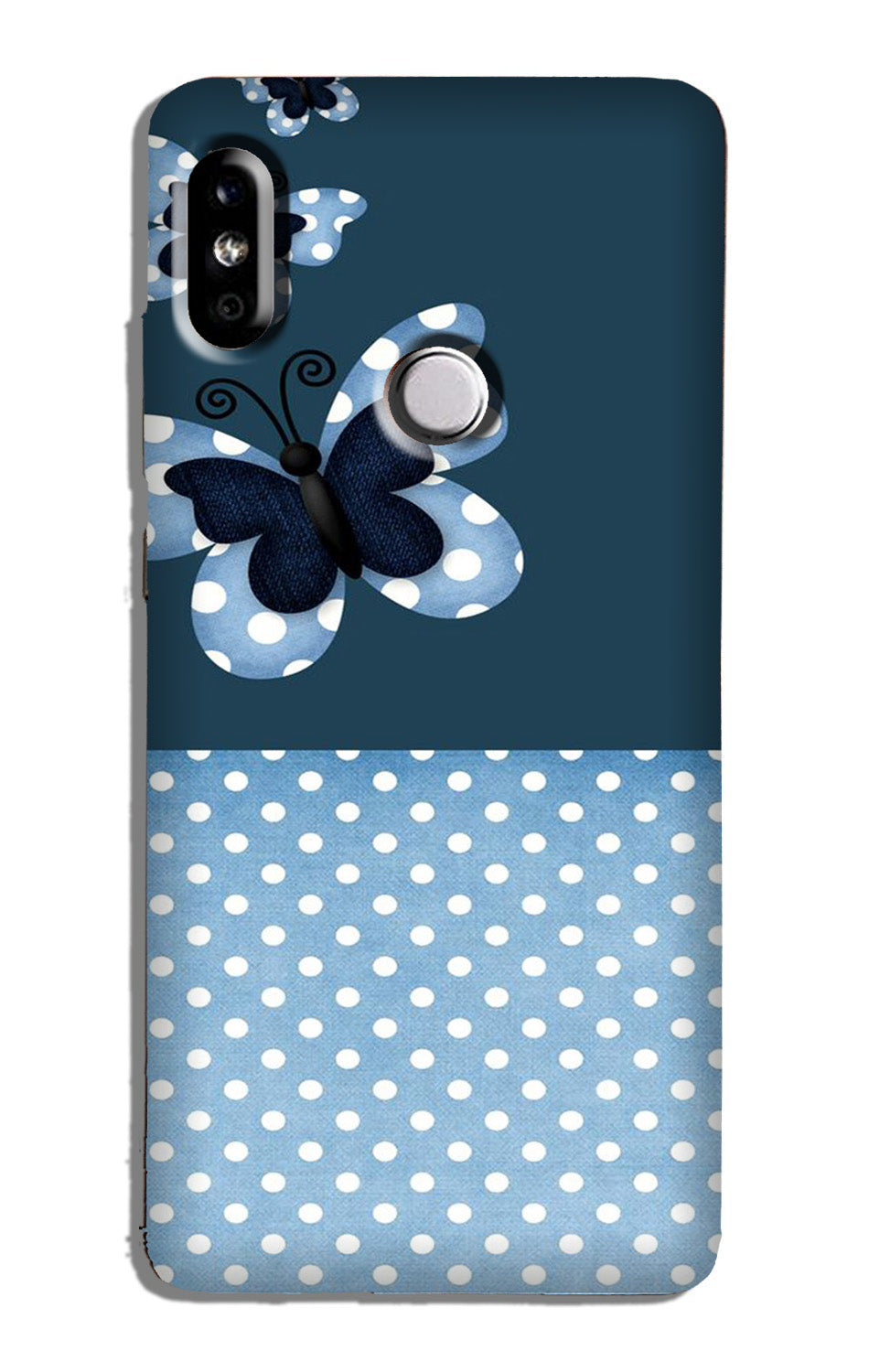 White dots Butterfly Case for Redmi 6 Pro