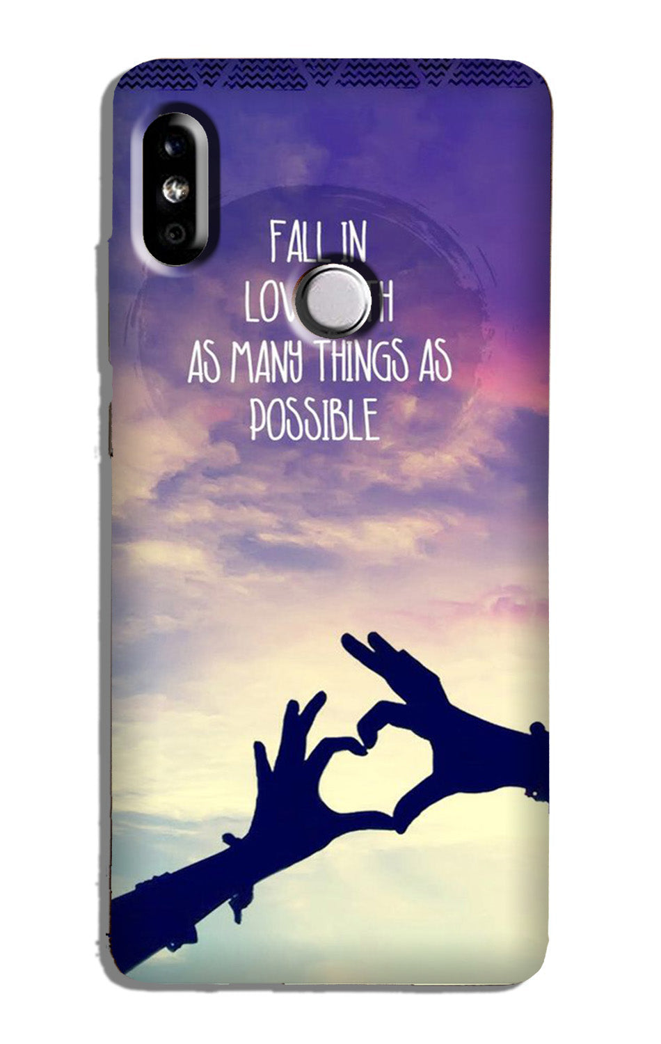 Fall in love Case for Redmi Y2