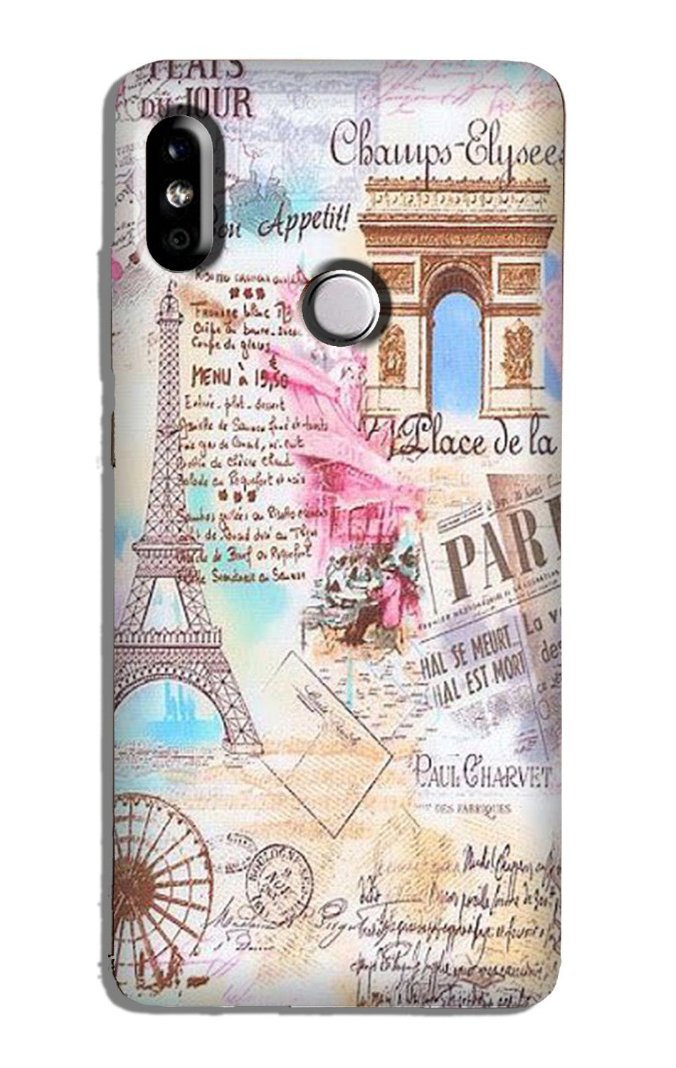 Paris Eiftel Tower Case for Mi A2
