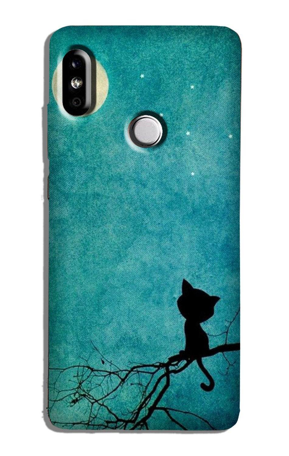 Moon cat Case for Redmi Note 5 Pro