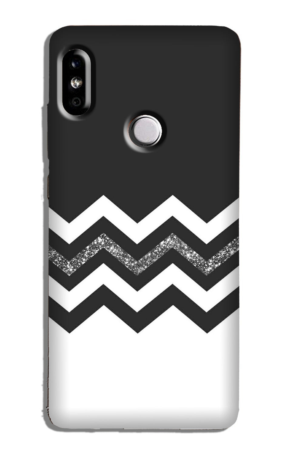 Black white Pattern Case for Redmi 6 Pro