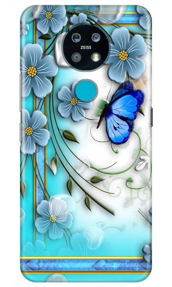 Blue Butterfly Case for Nokia 7.2