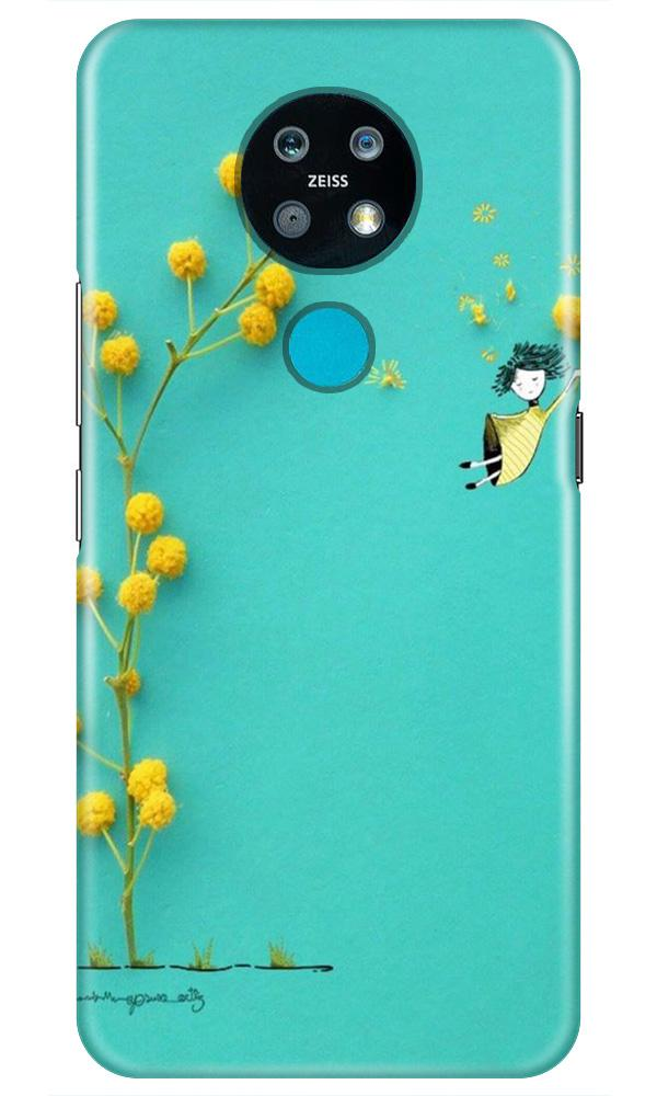 Flowers Girl Case for Nokia 7.2 (Design No. 216)
