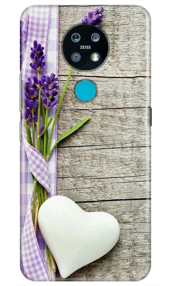 White Heart Case for Nokia 7.2 (Design No. 298)