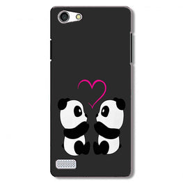 Panda Love Mobile Back Case for Oppo Neo 7  (Design - 398)