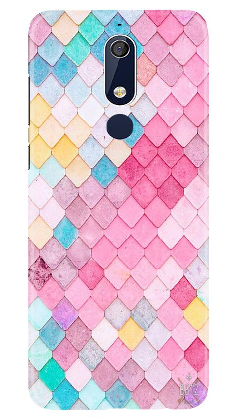 Pink Pattern Case for Nokia 5.1 (Design No. 215)