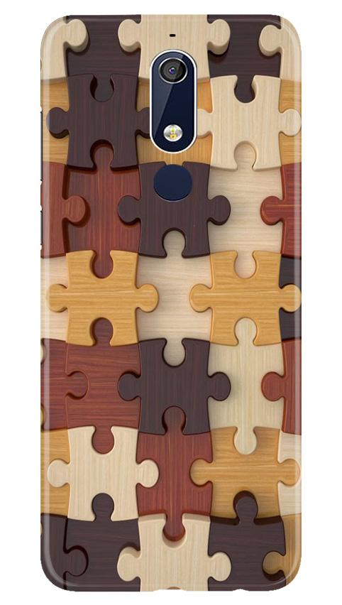 Puzzle Pattern Case for Nokia 5.1 (Design No. 217)
