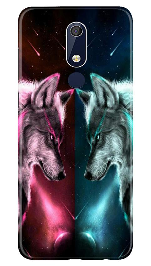 Wolf fight Case for Nokia 5.1 (Design No. 221)