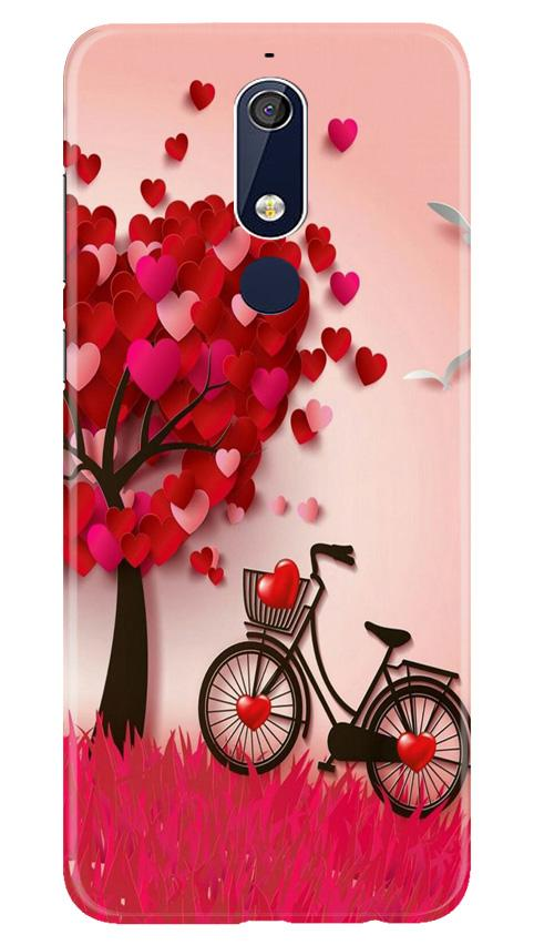 Red Heart Cycle Case for Nokia 5.1 (Design No. 222)