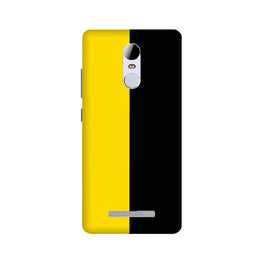 Black Yellow Pattern Mobile Back Case for Redmi Note 3  (Design - 397)