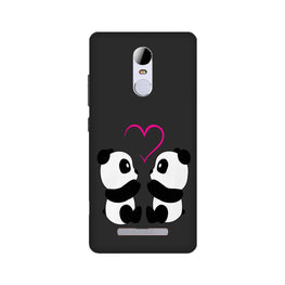 Panda Love Mobile Back Case for Redmi Note 3  (Design - 398)