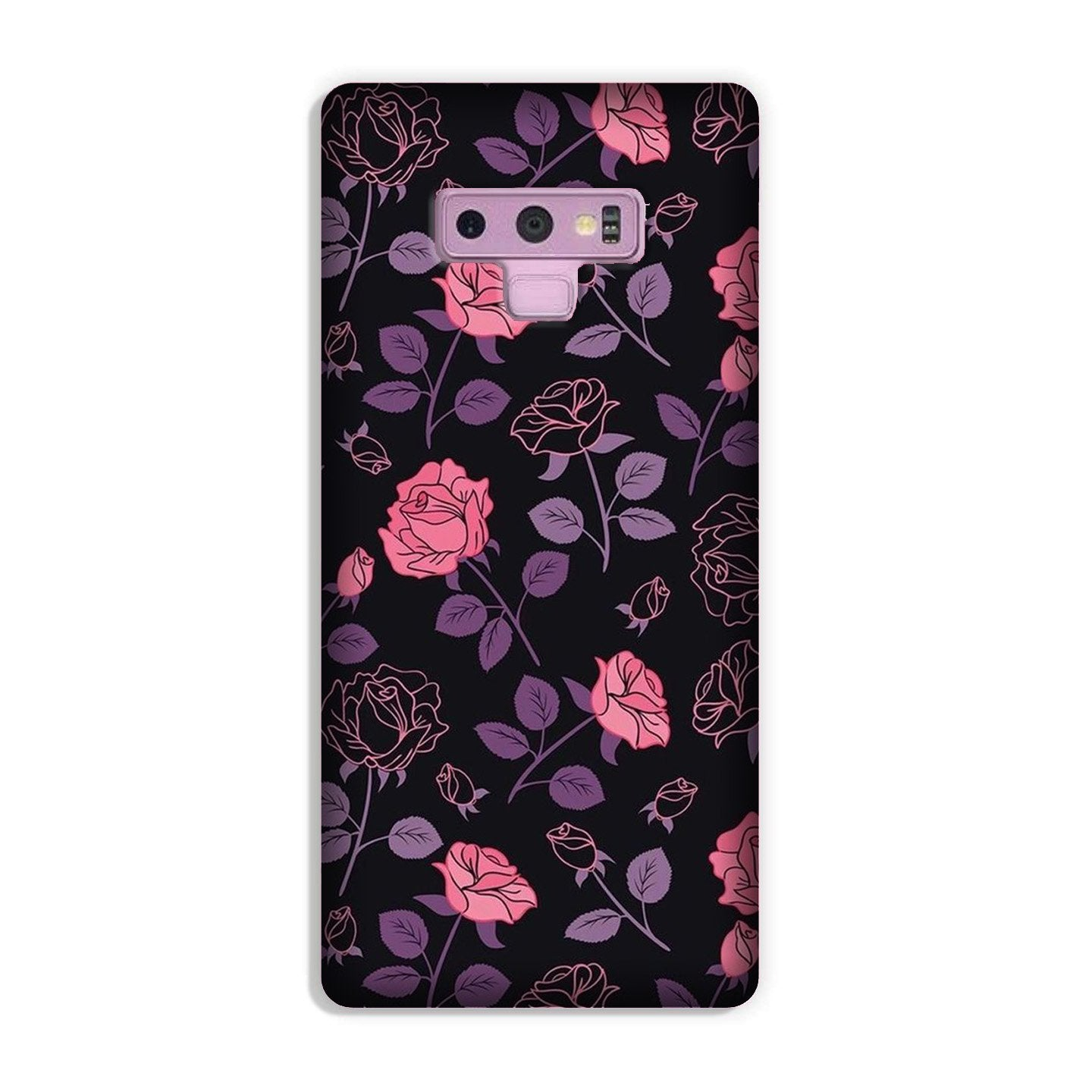 Rose Black Background Case for Galaxy Note 9