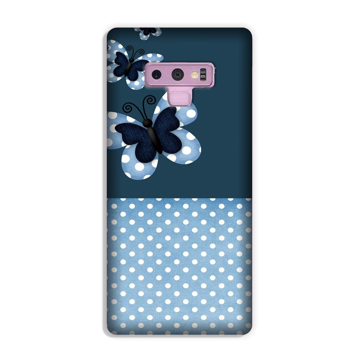 White dots Butterfly Case for Galaxy Note 9