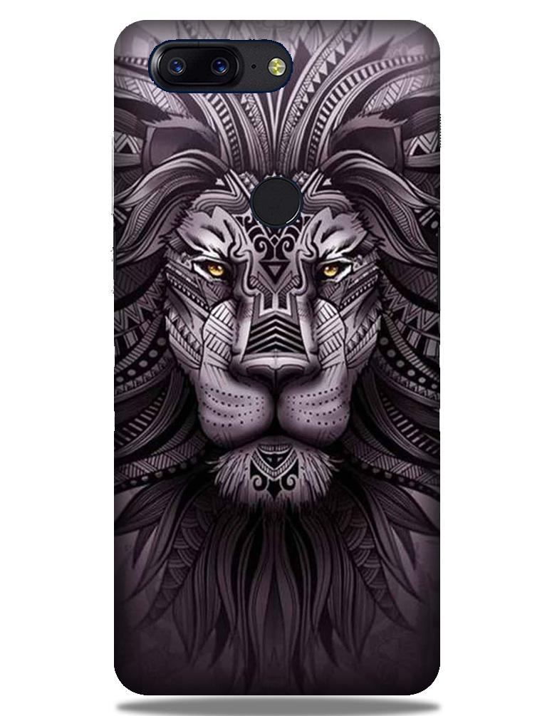 Lion Mobile Back Case for OnePlus 5T   (Design - 315)