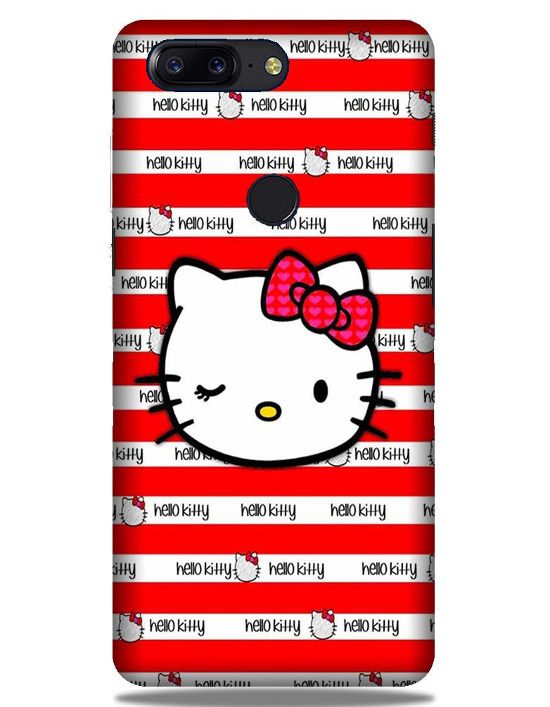Hello Kitty Mobile Back Case for OnePlus 5T   (Design - 364)