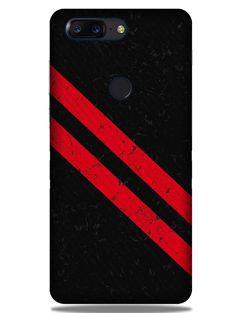 Black Red Pattern Mobile Back Case for OnePlus 5T   (Design - 373)