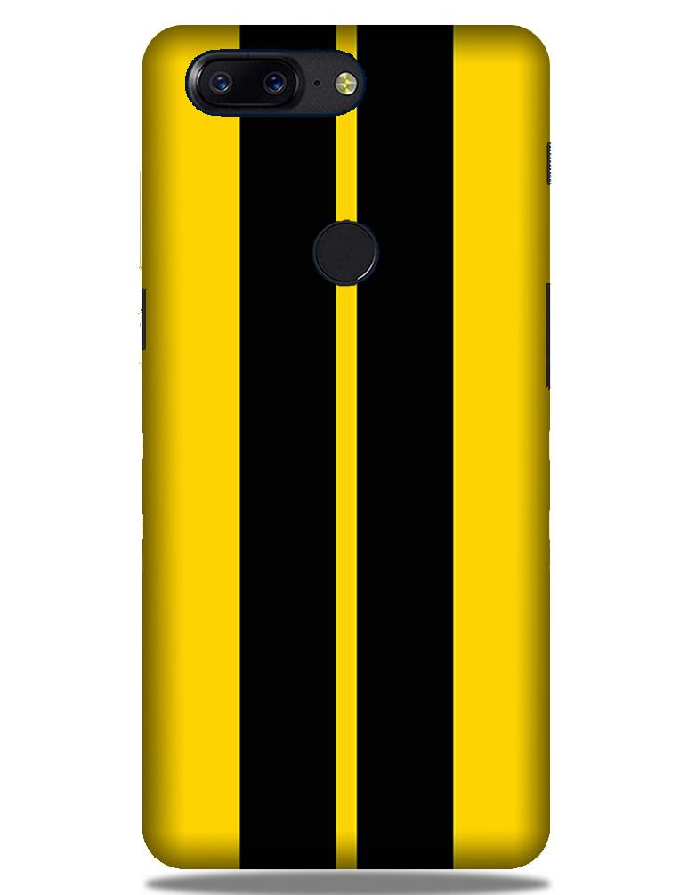 Black Yellow Pattern Mobile Back Case for OnePlus 5T   (Design - 377)