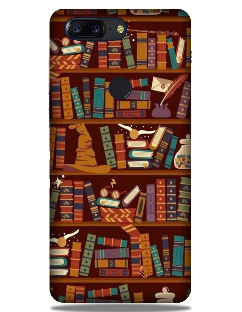 Book Shelf Mobile Back Case for OnePlus 5T   (Design - 390)