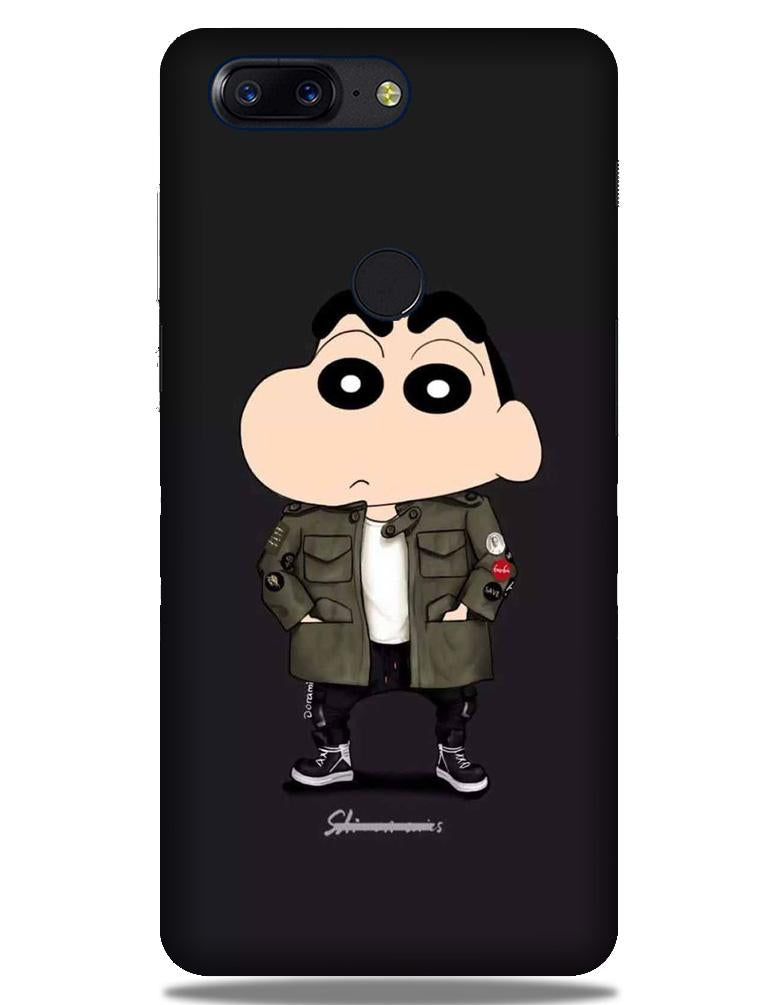 Shin Chan Mobile Back Case for OnePlus 5T   (Design - 391)