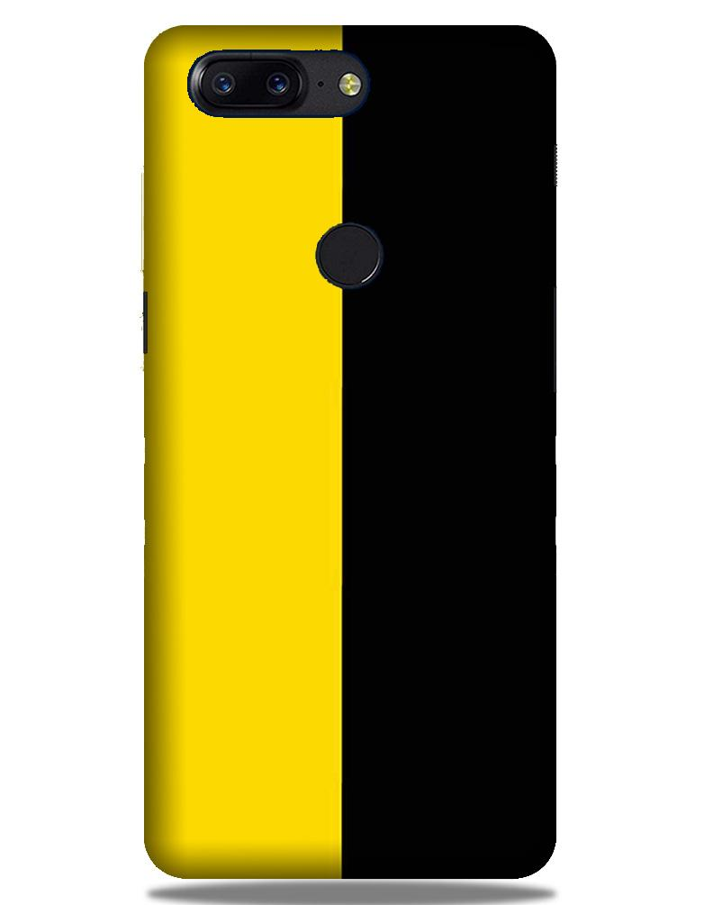 Black Yellow Pattern Mobile Back Case for OnePlus 5T   (Design - 397)