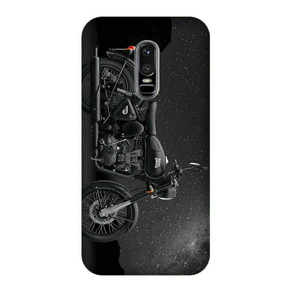 Royal Enfield Mobile Back Case for OnePlus 6   (Design - 381)