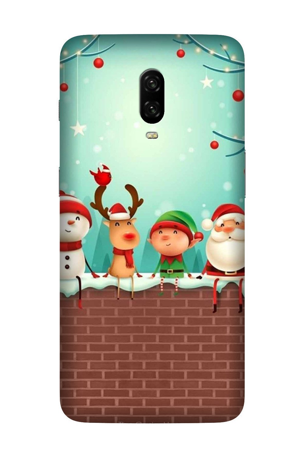 Santa Claus Mobile Back Case for OnePlus 7  (Design - 334)