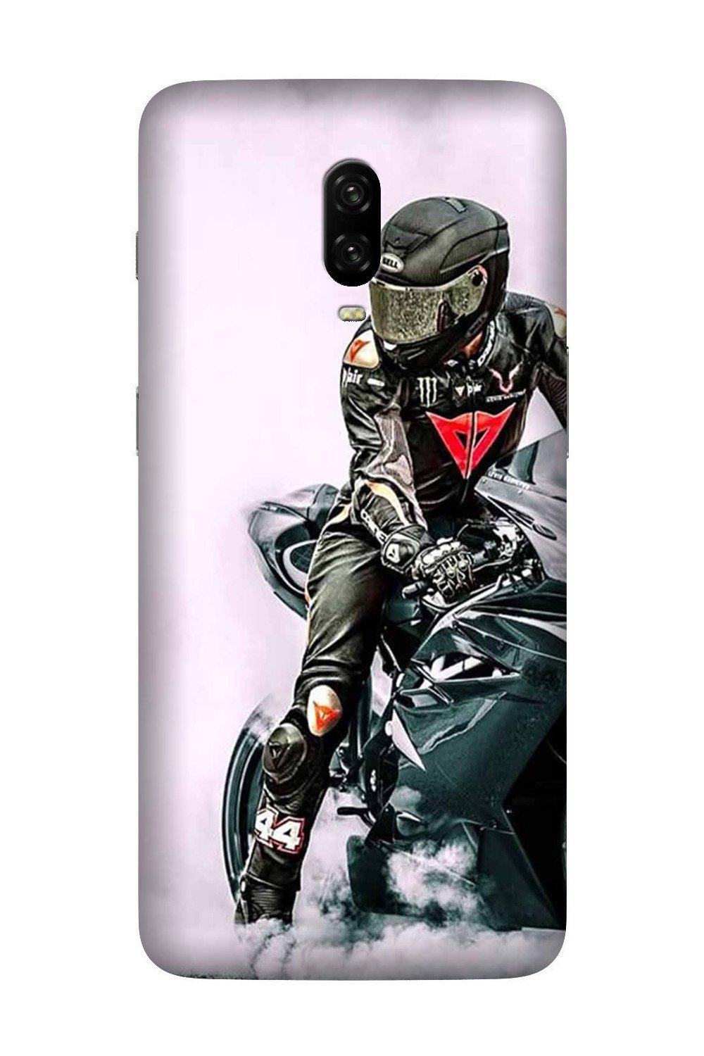 Biker Mobile Back Case for OnePlus 7  (Design - 383)