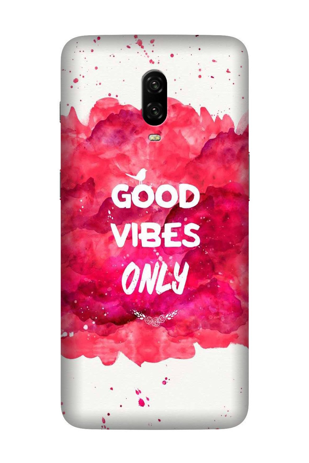 Good Vibes Only Mobile Back Case for OnePlus 7  (Design - 393)